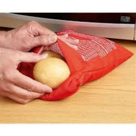 Bolsa para assar batata no microondas em 4 minutos