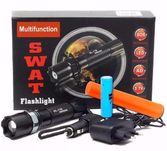 Lanterna Tática Militar Profissional Tiwok Swat Police1.5 Km