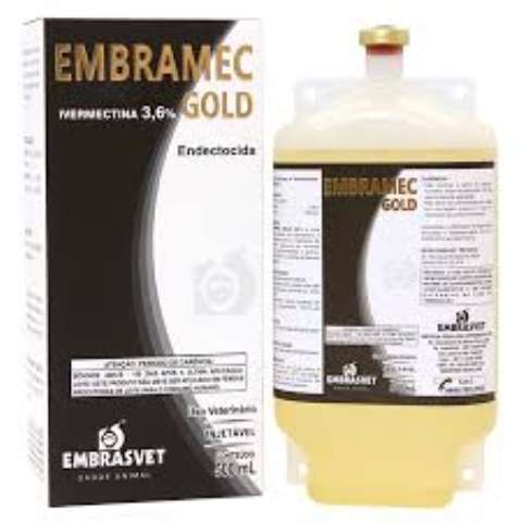 Embramec Gold 3,6% Ivermectina Frasco 500ml.