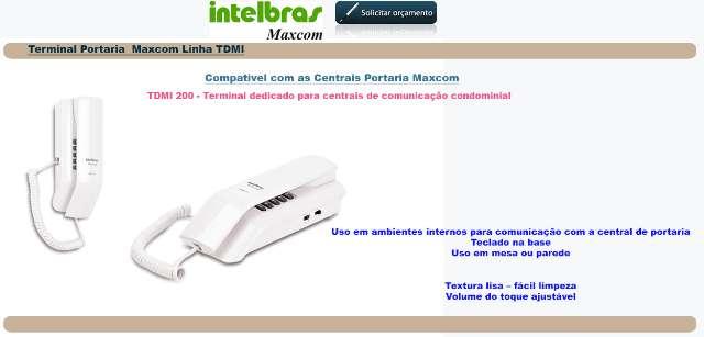 Interfone Maxcom TDMI-200 Terminal dedicado para apartamento.