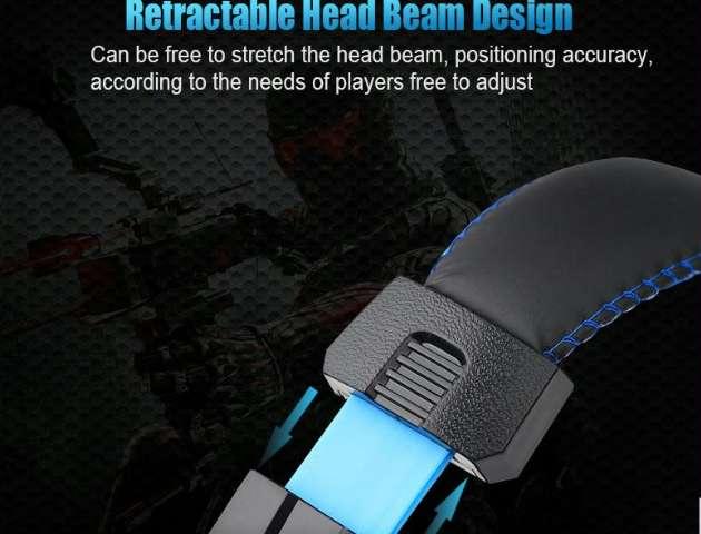 Headphone Gaming Headband Com Microfone Cor Azul ou Vermelho