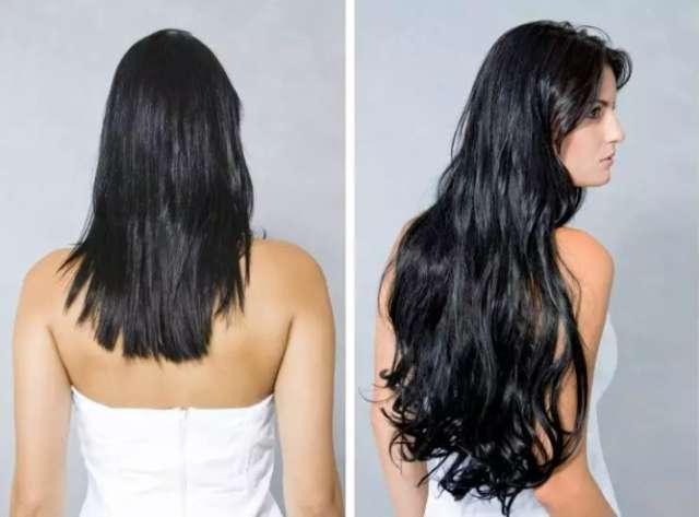 Aplique removível cabelos longos com efeito natural