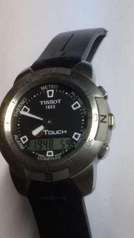 Relógio marca Tissot modelo tocher aço borracha