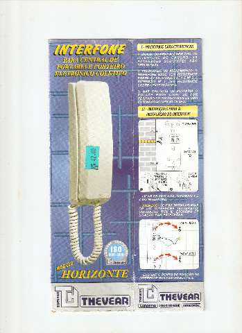 2 interfones Thevear - tipo TVA ICAP-HO