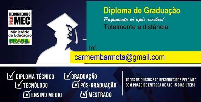 Cursos de Graduação EAD Diplomas em poucos dias pague só após receber