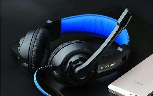 Headphone Gaming Headband Com Microfone Azul Vermelho Frete Gratis