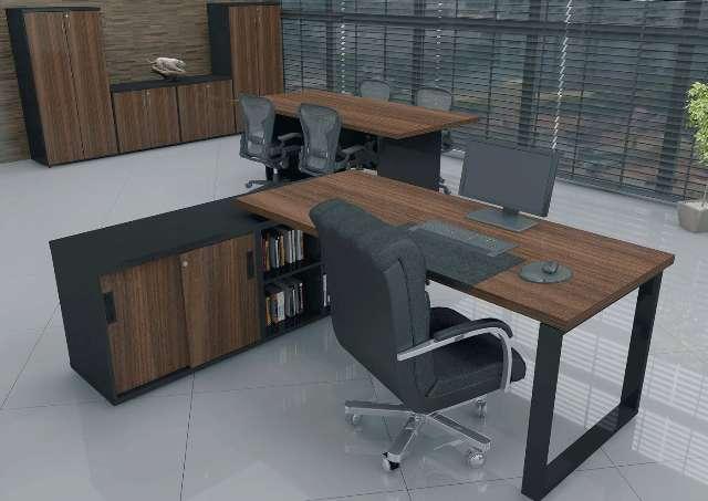 Mesa Reta L Delta Estação Trabalho Escritório