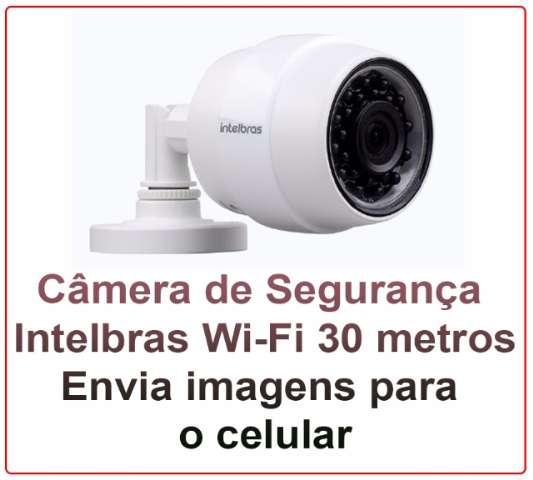 Câmera de segurança Intelbras 30 metros Wi-Fi HD (Conexão Wi-Fi)