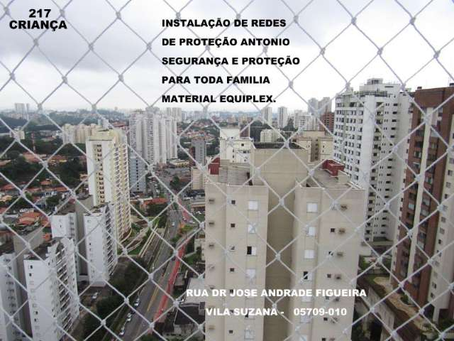 Redes de Segurança na Rua Dr. Jose Andrade Figueira, Vila Suzana, (11)  5524-7412