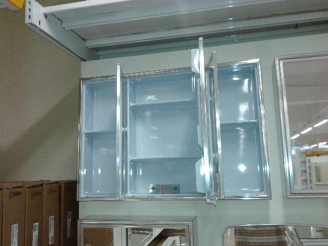 1 armário de banheiro tipo embutir com 3 espelhos - Crismetal