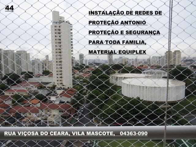 Redes de Proteção na Rua Conego Vicente Miguel Marino, Barra Funda (11) 98391-0505