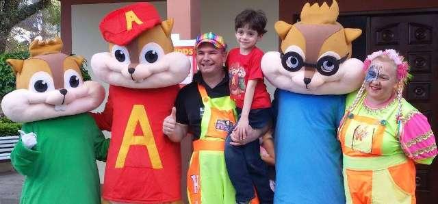 Cover Personagens vivos Esquilos animação Festas Infantil