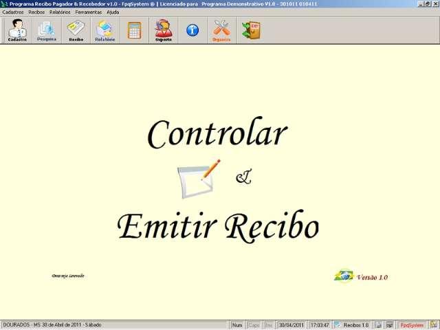 Programa Recibo Pagador e Recebedor v1.0