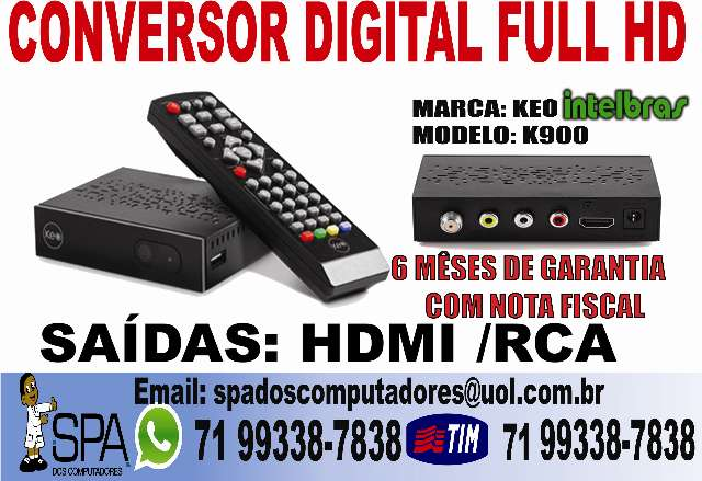 Conversor Digital Hd Keo K900 Salvador Ba