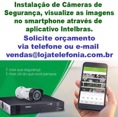 Instalação de Câmeras de Segurança Intelbras, Orçamento (11) 2011-4286