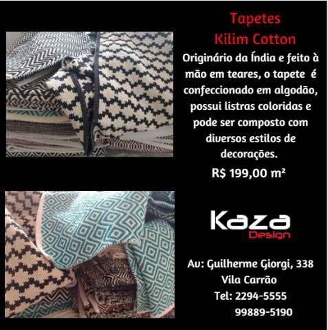 TAPETE INDIANO KILIM COTTON # KAZA DESIGN (11) 2294-5555