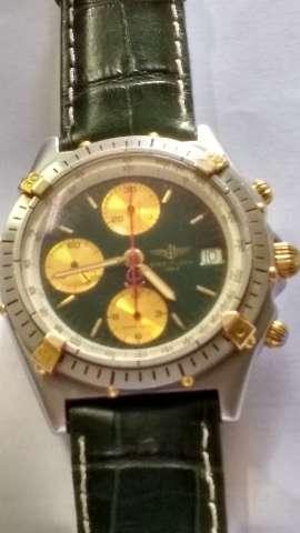 Relógio marca breitleng cronomat  verde automático cronografo