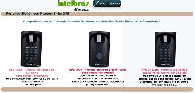 PORTEIRO ELETRONICO INTELBRAS/ MAXCOM XPE - DIGITAL - CONDOMINIOS E RESIDENCIAS
