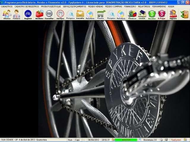 Programa Loja de Bicicletaria Serviços Vendas Estoque Financeiro v2.0