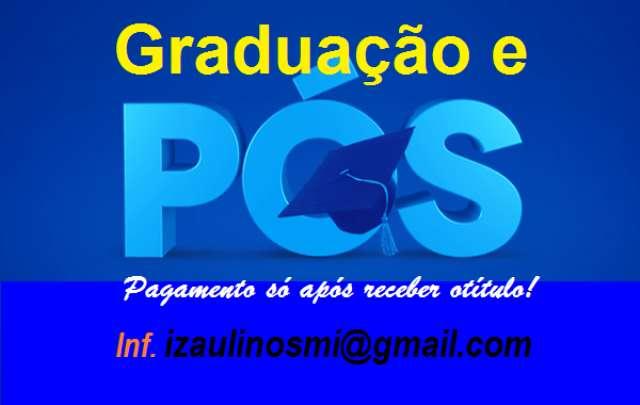 Diploma de Graduação EAD e só pague após receber