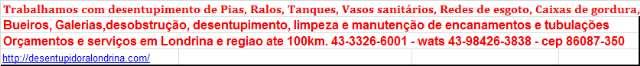 lIMPEZA DE FOSSA###A SOLUCAO EM LONDRINA-Atende 24 horas: 33266001