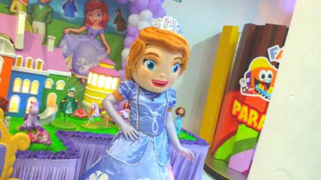 Cover Princesa Sofia Personagens Vivos animação Festas Infantil