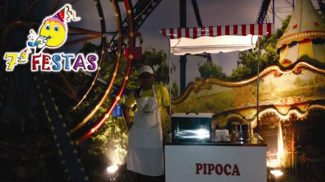 Promoção de carrinho de pipoca, algodão doce, e cama elástica em bh ( Sétima Festas e Eventos )