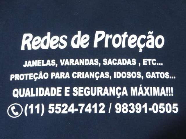 Redes e Telas de Proteção em taboão da Serra, Rua Kizaemon Takeut, 11 5524  7412