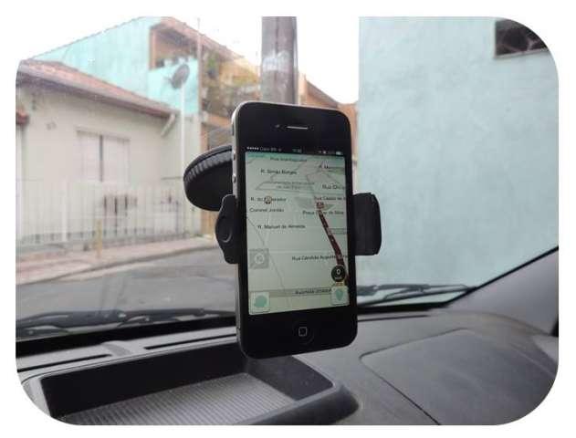 Suporte celular Veicular para Painel ou para-brisa modelo compacto 360 graus