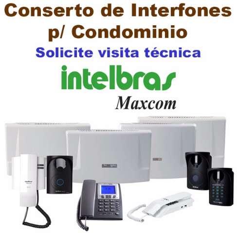Conserto de Interfones Maxcom / Intelbras