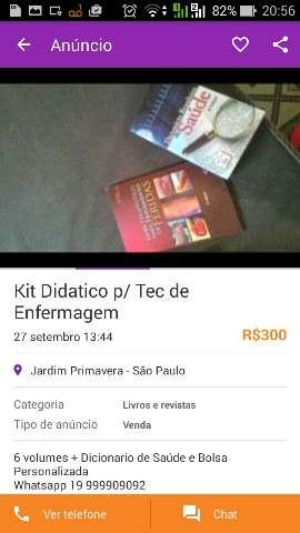 Kit Didatico para Tec de Enfermagem