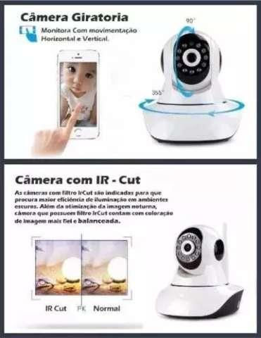 Câmera Ip Noturna 1.3 Mp Wifi Gira 360º Graus Hd 720p P2p
